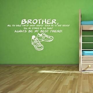 DeStudio Brother Always One Small Size Wall Decals  Stickers  (45cms x 51cms)