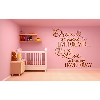 DeStudio Dream One Small Size Wall Decals  Stickers  (45cms x 51cms)