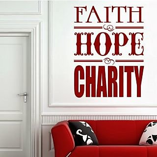 DeStudio Faith, Hope, Charity One Small Size Wall Decals  Stickers  (45cms x 51cms)