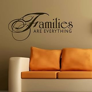 DeStudio Families Are Everything TINY Size Wall Decals  Stickers  (45cms x 60cms)
