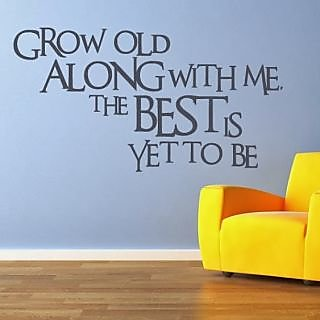 DeStudio Grow Old Along. Small Size Wall Decals  Stickers  (45cms x 51cms)