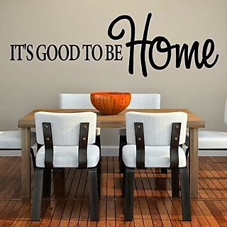 DeStudio Its Good To Be Home TINY Size Wall Decals  Stickers  (45cms x 60cms)