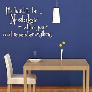 DeStudio Its Hard To Be Nostalgic Small Size Wall Decals  Stickers  (45cms x 51cms)