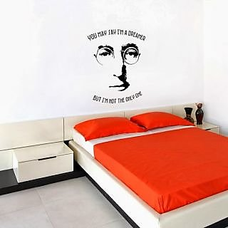 DeStudio John Lennon Small Size Wall Decals  Stickers  (45cms x 51cms)