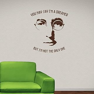 DeStudio John Lennon One Small Size Wall Decals  Stickers  (45cms x 51cms)