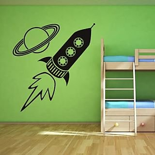 DeStudio Rocket TINY Size Wall Decals  Stickers  (45cms x 60cms)
