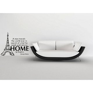 DeStudio A Man Travels The World Over In Search Of What He Needs One Small Size Wall Decals  Stickers  (45cms x 51cms)