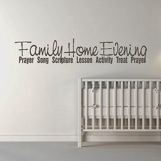 DeStudio Family, Home, Evening TINY Size Wall Decals  Stickers  (45cms x 60cms)
