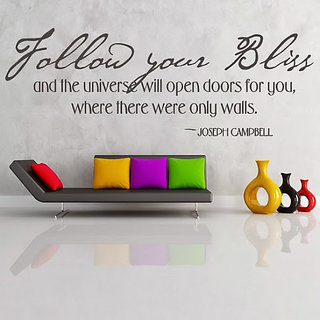 DeStudio Follow Your Bliss TINY Size Wall Decals  Stickers  (45cms x 60cms)
