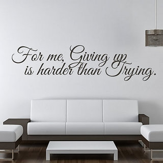 DeStudio For Me Giving Up Small Size Wall Decals  Stickers  (45cms x 51cms)