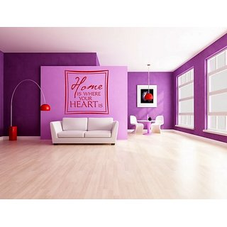 DeStudio Home Is Where One Small Size Wall Decals  Stickers  (45cms x 51cms)
