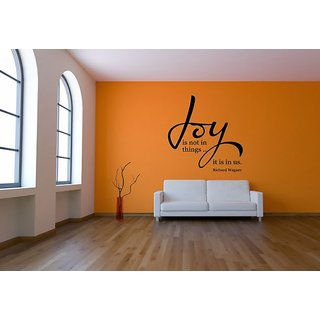DeStudio Joy Is Not In Things One Small Size Wall Decals  Stickers  (45cms x 51cms)