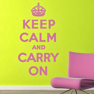 DeStudio Keep Calm and Carry On Small Size Wall Decals  Stickers  (45cms x 51cms)