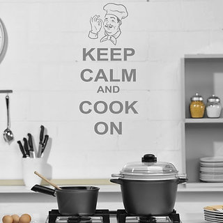 DeStudio Keep Calm And Cook TINY Size Wall Decals  Stickers  (45cms x 60cms)