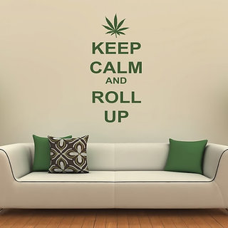 DeStudio Keep Calm And Roll Up TINY Size Wall Decals  Stickers  (45cms x 60cms)
