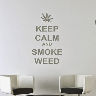 DeStudio Keep Calm And Smoke One TINY Size Wall Decals  Stickers  (45cms x 60cms)