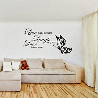 DeStudio Live Laugh Love One TINY Size Wall Decals  Stickers  (45cms x 60cms)