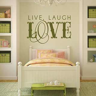 DeStudio Live, Laugh, Love TINY Size Wall Decals  Stickers  (45cms x 60cms)