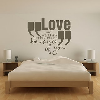 DeStudio Love My World Small Size Wall Decals  Stickers  (45cms x 51cms)