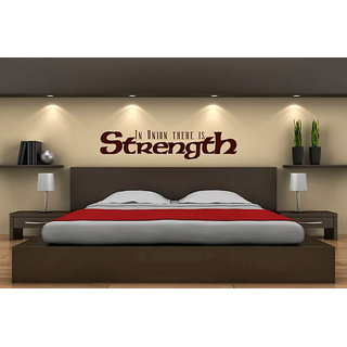 DeStudio In Union There Is Strength One Small Size Wall Decals  Stickers  (45cms x 51cms)