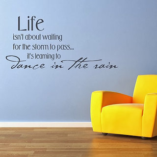 DeStudio Life Isnt About Waiting Small Size Wall Decals  Stickers  (45cms x 51cms)