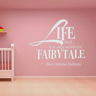 DeStudio Life Itself Is A Most Wonderful Small Size Wall Decals  Stickers  (45cms x 51cms)