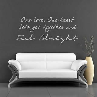 DeStudio One Love Lyrics TINY Size Wall Decals  Stickers  (45cms x 60cms)