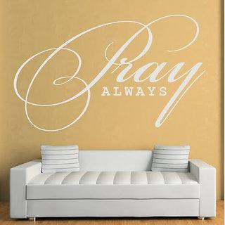 DeStudio Pray Always TINY Size Wall Decals  Stickers  (45cms x 60cms)
