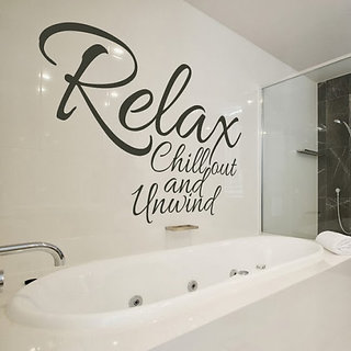 DeStudio Relax chill Out Small Size Wall Decals  Stickers  (45cms x 51cms)