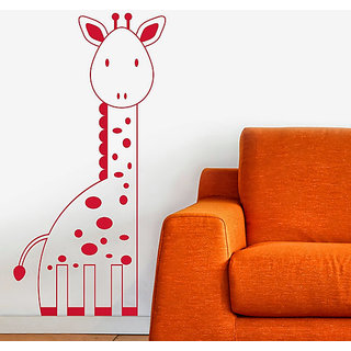 DeStudio Giraffe Cute Kids Animal Wall Sticker TINY Size Wall Decals  Stickers  (45cms x 60cms)