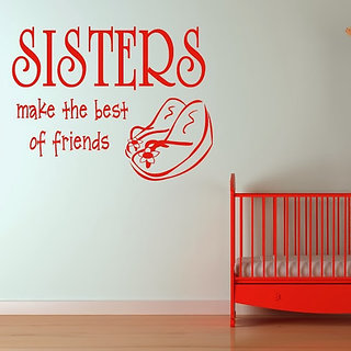 DeStudio Sisters Best Of Friends Small Size Wall Decals  Stickers  (45cms x 51cms)