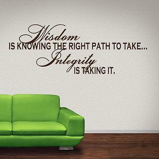 DeStudio Wisdom Is Knowing TINY Size Wall Decals  Stickers  (45cms x 60cms)