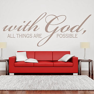 DeStudio With God All Things Small Size Wall Decals  Stickers  (45cms x 51cms)