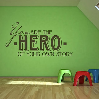 DeStudio You Are The Hero TINY Size Wall Decals  Stickers  (45cms x 60cms)