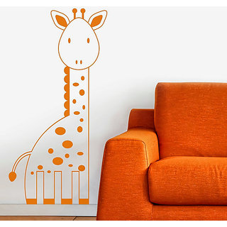 DeStudio Giraffe Cute Kids Animals Wall Sticker Small Size Wall Decals  Stickers  (45cms x 51cms)