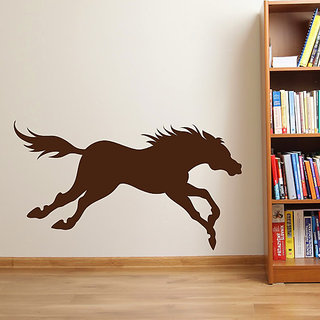DeStudio Horse Silhouette Animal Wall Sticker TINY Size Wall Decals  Stickers  (45cms x 60cms)