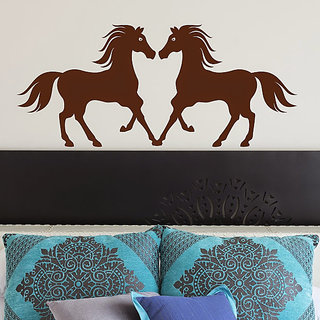 DeStudio Horses Large Love Silhouette Animals Wall Sticker TINY Size Wall Decals  Stickers  (45cms x 60cms)
