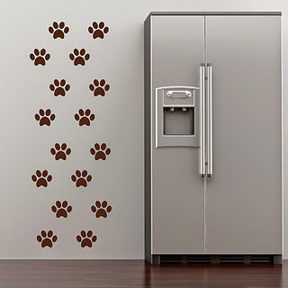 DeStudio Paw Print Silhouette Animal Wall Sticker Small Size Wall Decals  Stickers  (45cms x 51cms)