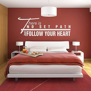 DeStudio There Is No Set Path Just Follow Small Size Wall Decals  Stickers  (45cms x 51cms)