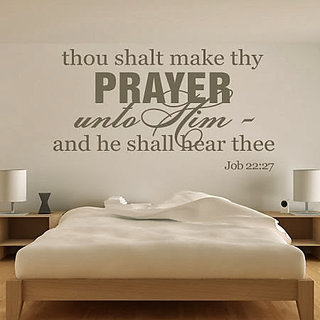 DeStudio Thou Shalt Make Thy Prayer Small Size Wall Decals  Stickers  (45cms x 51cms)