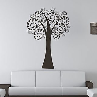 DeStudio Swirl Branches Tree TINY Size Wall Decals  Stickers  (45cms x 60cms)