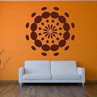 DeStudio Floral Dots Flowers Aptterned Small Size Wall Decals  Stickers  (45cms x 51cms)