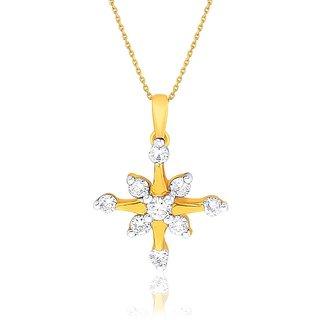 Sangini Diamond Designer 18K Yellow Gold Diamond Pendant