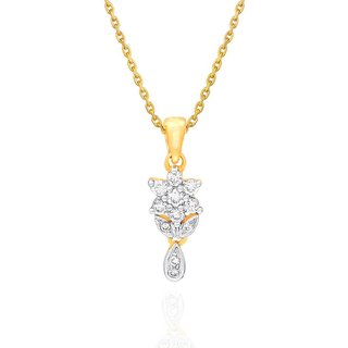 Nakshatra Diamond Designer 18K Yellow Gold Diamond Pendant
