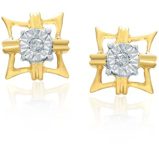 Nirvana Diamond Designer 18K Yellow Gold Diamond Earring