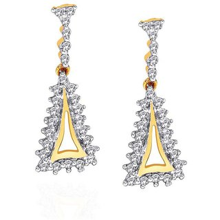 Sangini Diamond Designer 18K Yellow Gold Diamond Earring