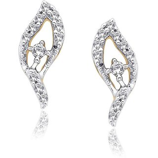 Asmi Diamond Designer 18K Yellow Gold Diamond Earring