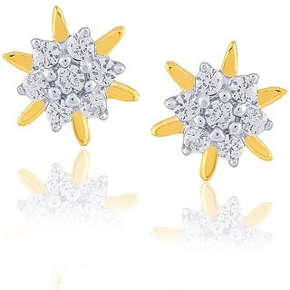Nakshatra Diamond Designer 18K Yellow Gold Diamond Earring