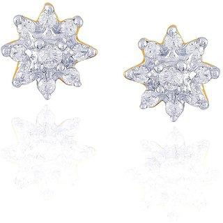 Nakshatra Diamond Designer 18K Yellow Gold Diamond Earring
