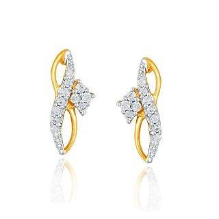 Asmi Diamond Designer 18K Yellow Gold Diamond Earring